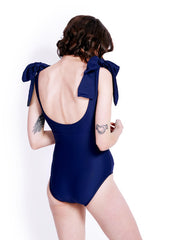 Soot Bow Navy Swimsuit Back
