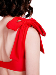Soot Red Bow Bikini Detail