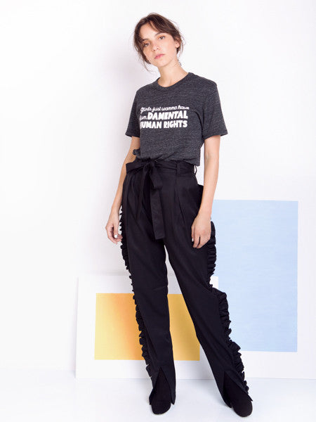 Alexandra Moura Black Frilled Trousers