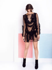 Alexandra Moura Black Transparent Dress