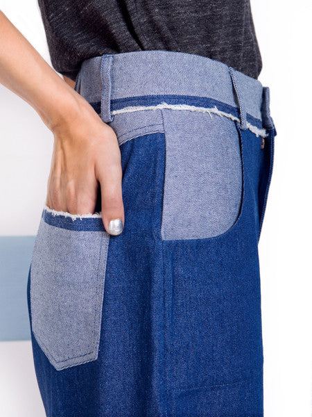 Rachel Antonoff Simon Crop Pant Pocket Detail