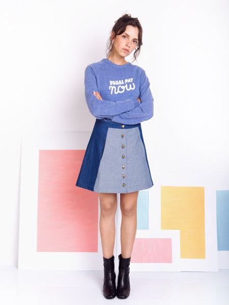 Rachel Antonoff Charlie Mini Denim Skirt model styling