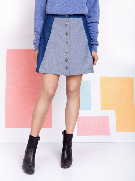 Rachel Antonoff Charlie Mini Denim Skirt front