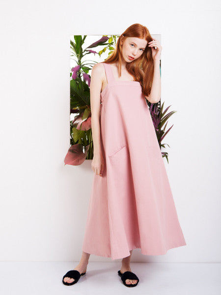 Soot Blush Billow Swing Dress