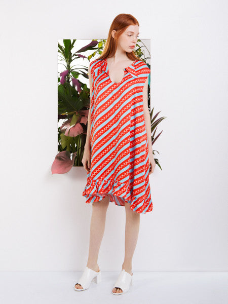 Moises Nieto Striped Dress