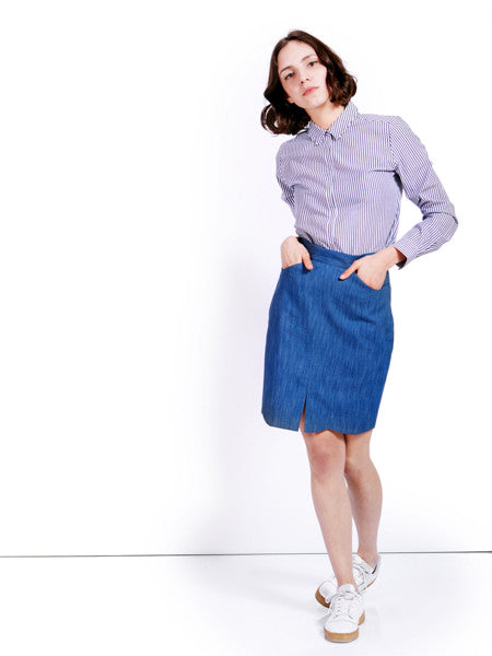 Ambali Denim Emily Pencil Skirt Look