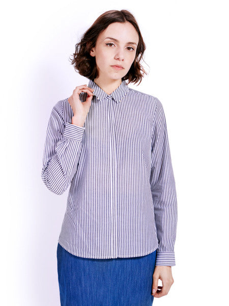 Ambali Dark Stripes Morgan Shirt Front