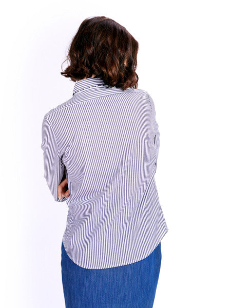 Ambali Dark Stripes Morgan Shirt Back
