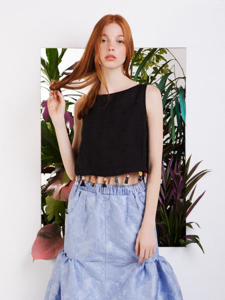 Rachel Antonoff Kishi Worry Doll Crop Top