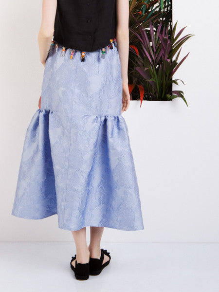 Alexandra Moura Blue Brocade Skirt