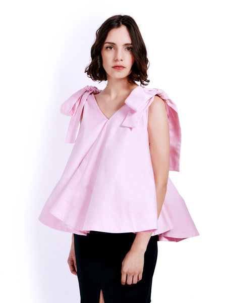 Soot Bow Swing Blush Top Front