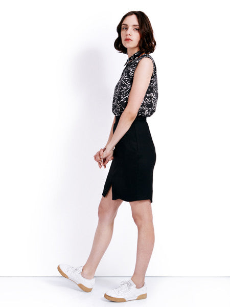 Ambali Emily Pencil Skirt Black Side