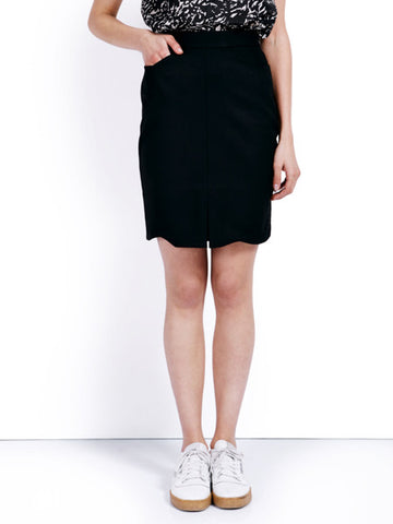Ambali Emily Pencil Skirt Black Front