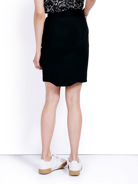 Ambali Emily Pencil Skirt Black Back