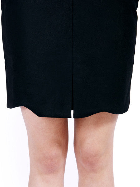 Ambali Emily Pencil Skirt Black Detail