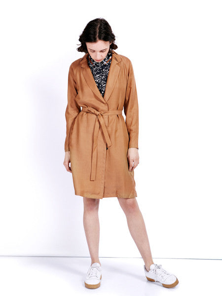 Ambali Maud Camel Trench Coat Front