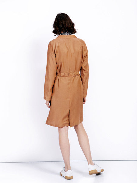 Ambali Maud Camel Trench Coat Back