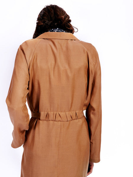 Ambali Maud Camel Trench Coat Back Detail