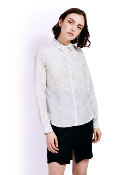 Ambali Light Print Morgan Shirt Front