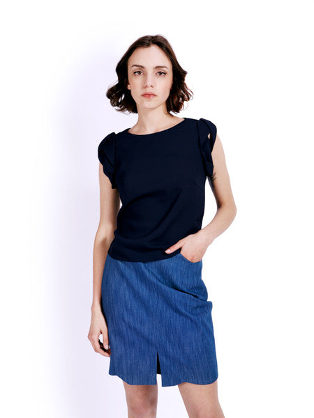 Ambali Elle Navy Top Front