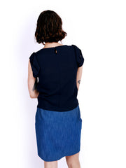 Ambali Elle Navy Top Back