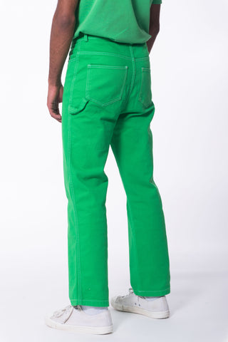 HIBU Unisex Carpenter Jeans in Green Made in Portugal Lisbon
