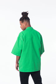 HIBU Unisex Long Boxy Shirt in Green Made in Portugal Lisbon