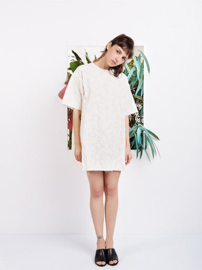 Marques'Almeida Oversized Ivory T-shirt Dress