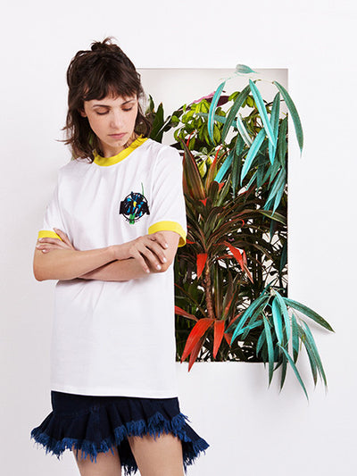 Marques'Almeida Embroidered Logo T-shirt