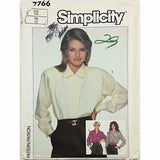 Misses Loose Fitting Shirt Simplicity 7766 Sewing Pattern Vintage Size 12 c2418
