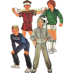 Boys Jacket Top Pants Shorts Simplicity 7020 Sewing Pattern 1985 Size 7-10 c2714