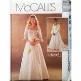 Misses Lined Dress Medieval Wedding Pattern McCalls 3869 2002 Size 8-14 c1400