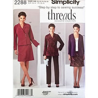 Miss Jacket Pants Skirt Cardigan Simplicity 2288 Sewing Pattern Size 10-18 c2600