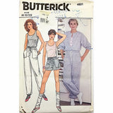 Misses Jumpsuit Pants Shorts Top Butterick 4931 Sewing Pattern Size 8-12 c2414
