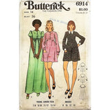 Misses Dress Butterick 6914 Sewing Pattern Vintage Size 14 c2668