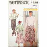 Misses Top Skirt Pants Butterick 4385 Sewing Pattern Vintage Size 12-16 c2421
