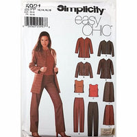 Misses Jacket Top Pants Skirt Simplicity 5921 Sewing Pattern Size 12-18 c2502