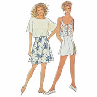 Misses Shorts Tops Simplicity 7148 Sewing Pattern Vintage Size 8-20 c2409
