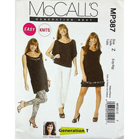 Misses Top Tunic Dress McCalls MP387 Sewing Pattern 2011 Size L-XL c1889