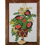 Hanging Plant Crewel Embroidery Kit 5 x 7 Vintage 1978 Canon 6416 c2678