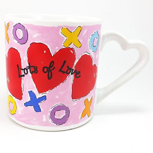 Lots of Love Coffee Mug Cup 12oz Vintage Russ Valentines Day Heart k749