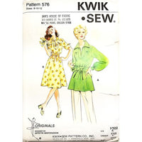 Misses Tunic Dress Kwik Sew 576 Sewing Pattern Vintage Size 8 10 12 c2664