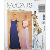 Misses Lined Gowns McCalls 2076 Sewing Pattern Evening Elegance Size 4-8 c2636