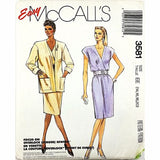 Misses Jacket Dress McCalls 3581 Sewing Pattern Vintage 1988 Size 14-20 c2479