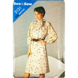 Misses Dress Butterick See & Sew 5131 Sewing Pattern Vintage Size 6-10 c2672