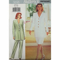 Misses Tunic Skirt Pants Butterick 3243 Sewing Pattern 1994 Size 12-16 c2492