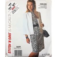Misses Jacket Dress McCalls Stitch N Save 3047 Sewing Pattern Size 10-14 c2630