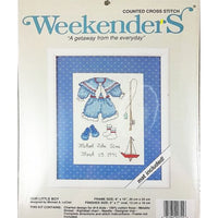 Our Little Boy Counted Cross Stitch Kit 8 x 10 Weekenders 02755 c2611