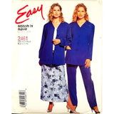 Misses Cardigan Pants Skirt McCalls 2461 Sewing Pattern Vintage Size 8-14 c2751