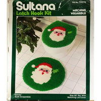 Santa Bath Ensemble Latch Hook Kit Sultana 79276 Christmas Holiday Rug c2761